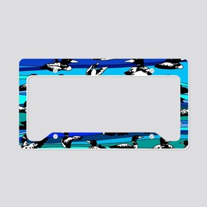 Loons on blue License Plate Holder
