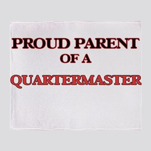 Proud Parent of a Quartermaster Throw Blanket