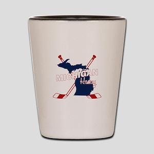 Michigan Hockey Shot Glass