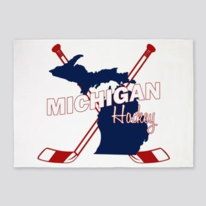 Michigan Hockey 5'x7'Area Rug