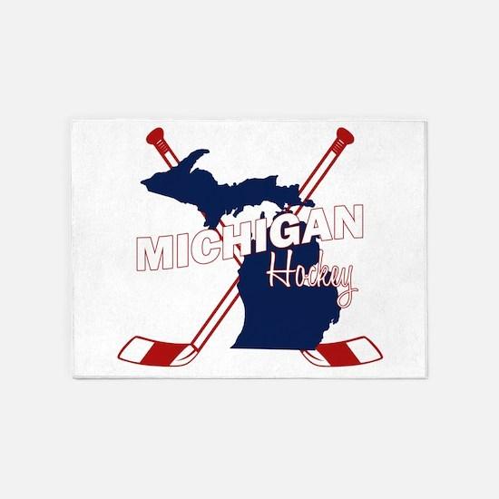 Michigan Hockey 5'x7'Area Rug