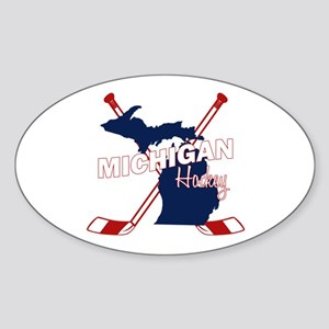 Michigan Hockey Sticker (Oval)