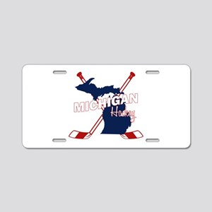 Michigan Hockey Aluminum License Plate