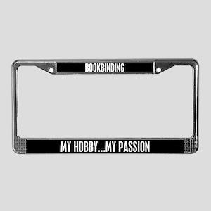 Bookbinding License Plate Frame