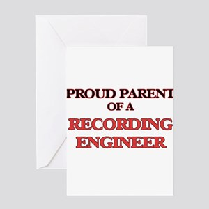 Proud Parent of a Recording Enginee Greeting Cards