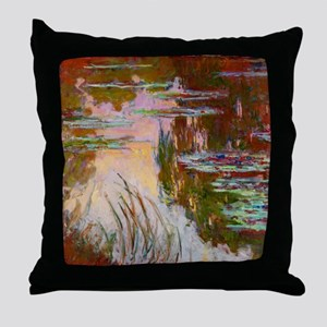 Water-Lilies, Setting Sun Monet Throw Pillow