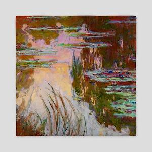 Water-Lilies, Setting Sun Monet Queen Duvet