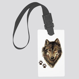 Watercolor Wolf Head Logo & Large Luggage Tag