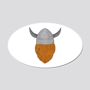 Viking Warrior Head Rear View Drawing Wall Decal