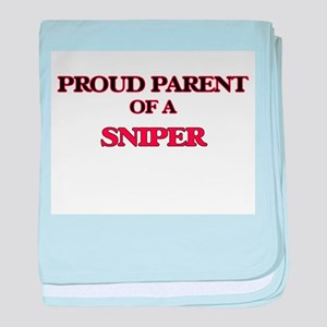 Proud Parent of a Sniper baby blanket