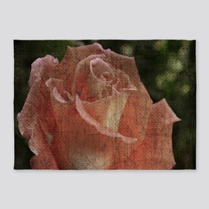 sad orange rose 5'x7'Area Rug