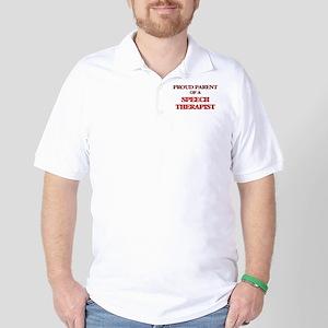 Proud Parent of a Speech Therapist Golf Shirt
