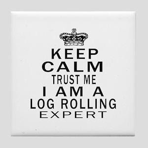 Log Rolling Expert Designs Tile Coaster
