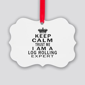Log Rolling Expert Designs Picture Ornament