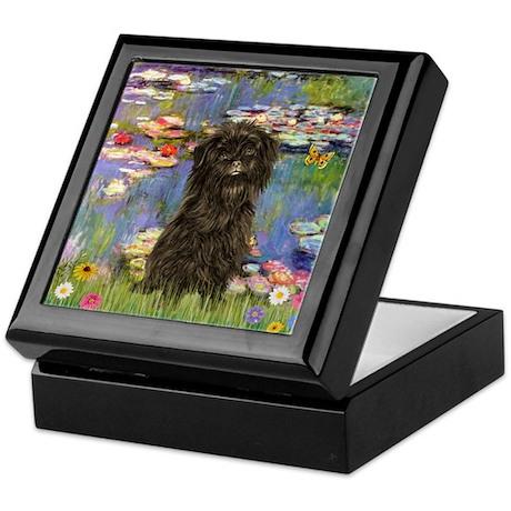 Monet's Lilies & Affenpinsche Keepsake Box