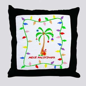 MELE KALIKIMAKA Throw Pillow