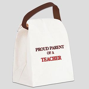 Proud Parent of a Teacher Canvas Lunch Bag