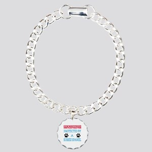 Warning Protected by a S Charm Bracelet, One Charm