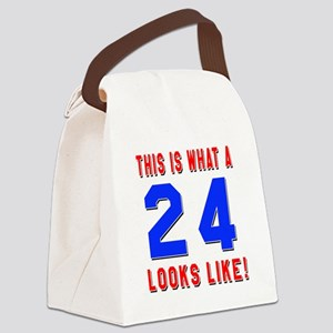 Look Like 24 Birthday Canvas Lunch Bag