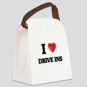 I love Drive Ins Canvas Lunch Bag
