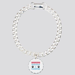 Warning Protected by a T Charm Bracelet, One Charm