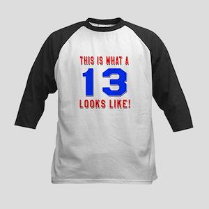 Look Like 13 Birthday Kids Baseball Jersey