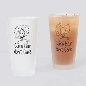 Curly Hair don't Care Drinking Glass