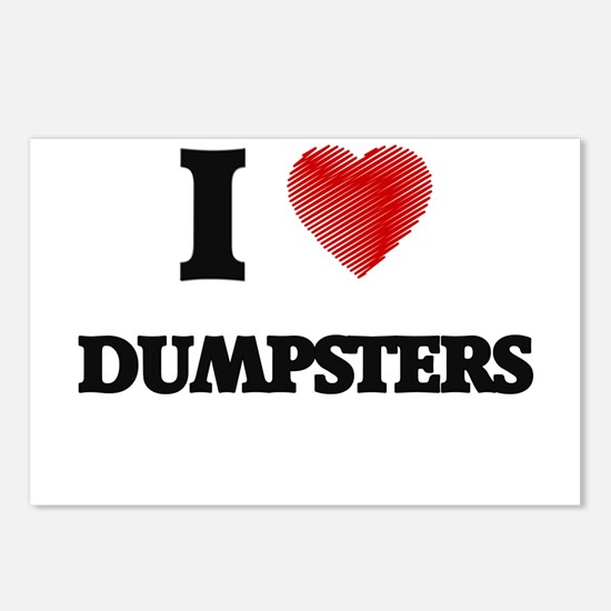 I love Dumpsters Postcards (Package of 8)