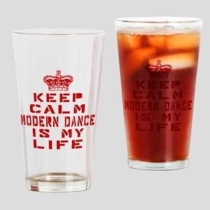 Keep Calm and Modern Dance Drinking Glass