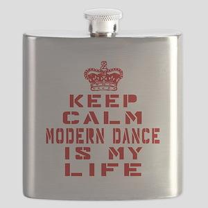 Keep Calm and Modern Dance Flask