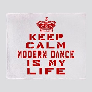 Keep Calm and Modern Dance Throw Blanket