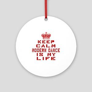 Keep Calm and Modern Dance Round Ornament