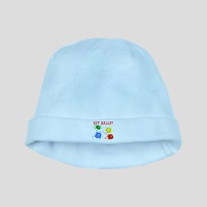 Splattered Paint Balls baby hat