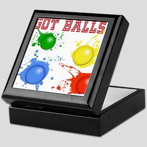 Splattered Paint Balls Keepsake Box