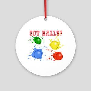Splattered Paint Balls Round Ornament