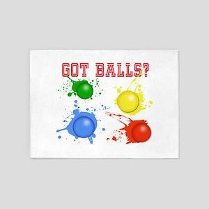 Splattered Paint Balls 5'x7'Area Rug
