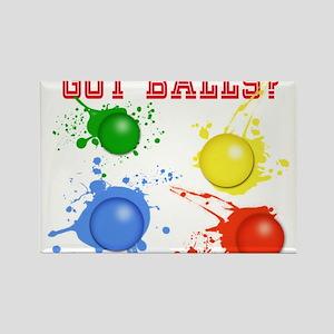 Splattered Paint Balls Magnets