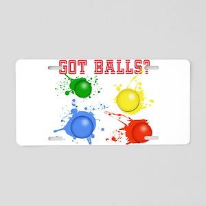 Splattered Paint Balls Aluminum License Plate