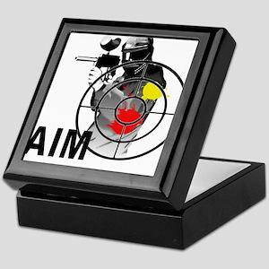 Paintball Shooter Gun Sight Aim Keepsake Box