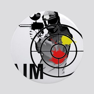Paintball Shooter Gun Sight Aim Round Ornament