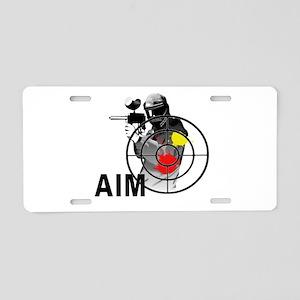 Paintball Shooter Gun Sight Aluminum License Plate