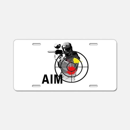 Paintball Shooter Gun Sight Aluminum License Plate