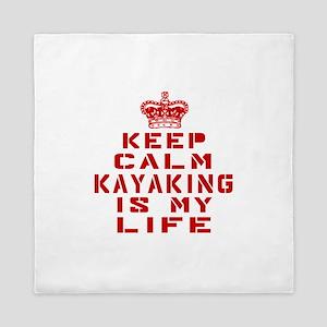 Keep Calm and Kayaking Queen Duvet