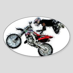 Motocross Jump Paint Splatter Sticker