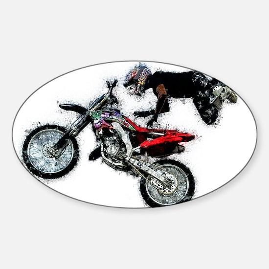 Motocross Jump Paint Splatter Decal
