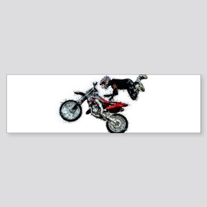 Motocross Jump Paint Splatter Bumper Sticker