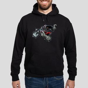 Motocross Jump Paint Splatter Hoodie (dark)