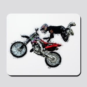 Motocross Jump Paint Splatter Mousepad