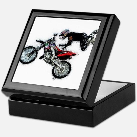 Motocross Jump Paint Splatter Keepsake Box