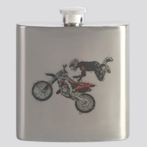 Motocross Jump Paint Splatter Flask